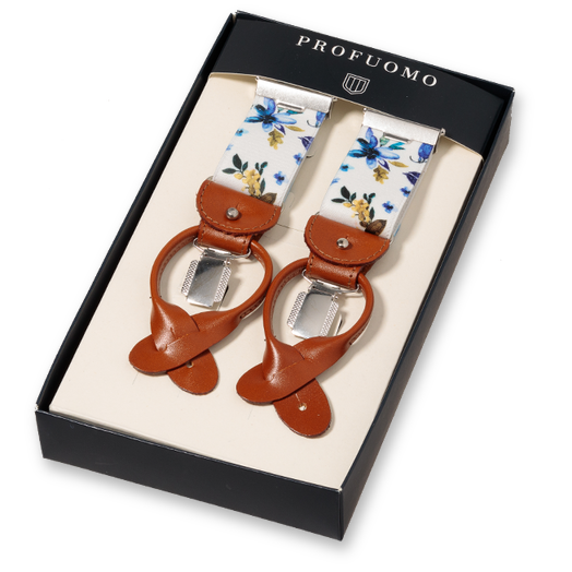 Profuomo Bretels Flowers Blue (1)