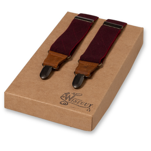 Wiseguy Suspenders - Bordeauxrood (1)