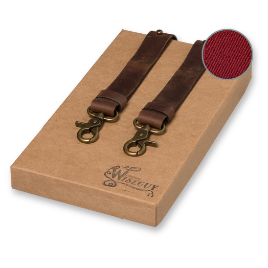 Wiseguy Suspenders - Crazy Horse Flex Bordeauxrood (1)