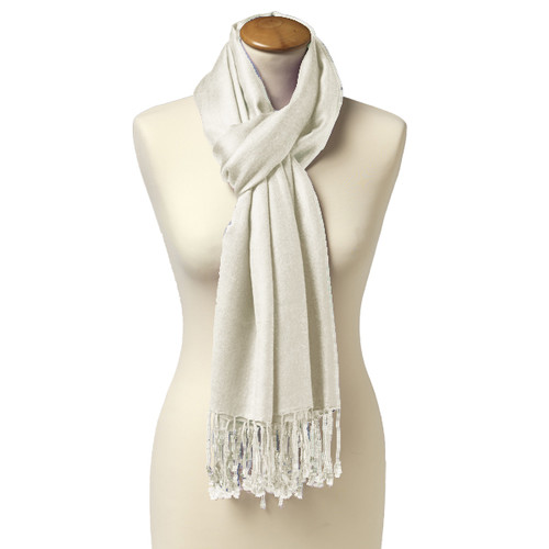 Pashmina Sjaal - Roomwit - Viscose (1)