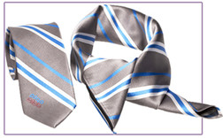 sjaal uit stropdassenstof