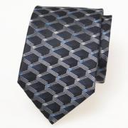 Zijden stropdas zwart blauw