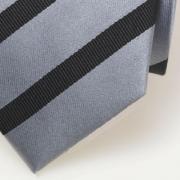 Zijden stropdas grijs/zwart
