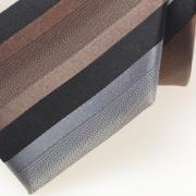 stropdas zwart, bruin, ecru, grijs - detail