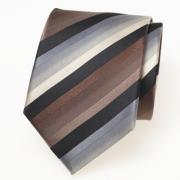 stropdas zwart, bruin, ecru, grijs