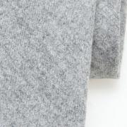 wollen Profuomo stropdas - grijs - detail